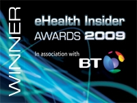 Winner of the eHealth Insider Awards 2009